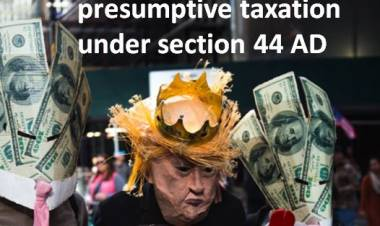 Presumptive taxation under section 44 AD of Income Tax Act
