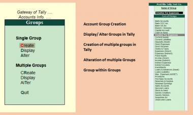 How to Create an Account Group in Tally?