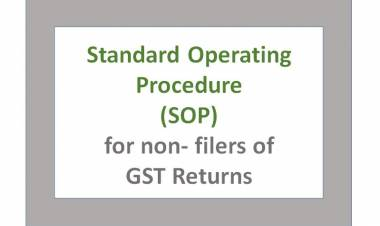 Standard Operating Procedure (SOP) in case of non-filers of returns under CGST Act, 2017