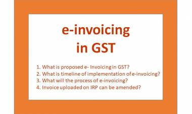 E- Invoicing in GST from 01st January 2020 (now postponed )