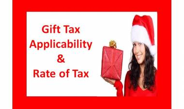 GIFT Tax Applicability & Rate of Tax