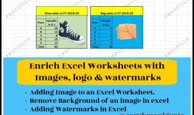 Enrich Excel Worksheets with Images, Logo & Watermarks