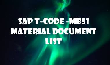 SAP T-code MB51-  Material Document List