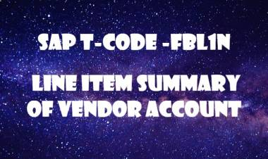 SAP T-code FBL1N-  Line item summary of Vendor Account