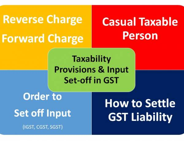 Taxability Provisions and Input Set-off in GST