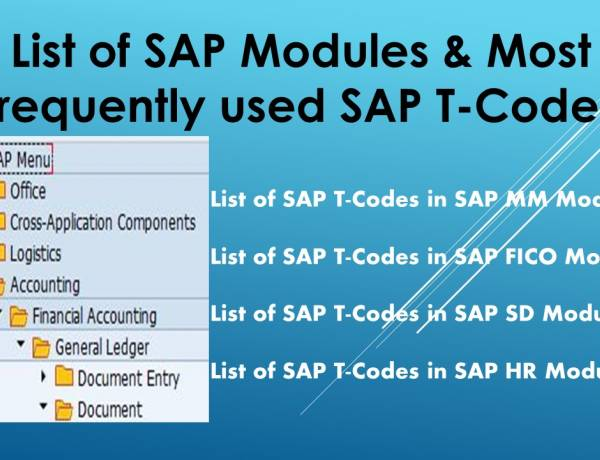 List of SAP- Modules & Most frequently used SAP-T-Codes