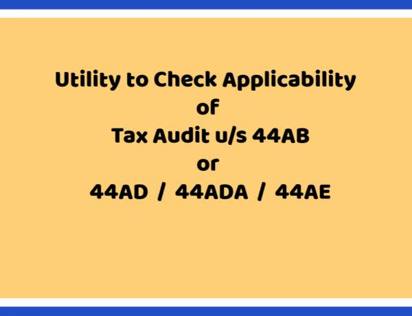 Tax Audit Applicability Checker Tool