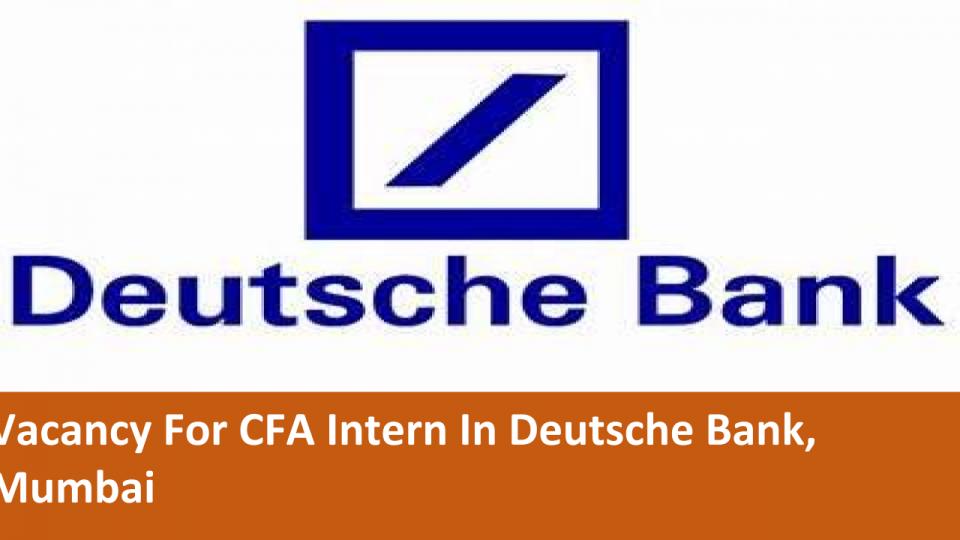 deutsche bank india careers for freshers